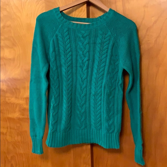Old Navy Sweaters - Teal cable knit sweater